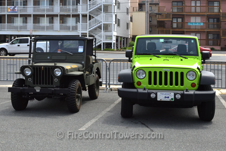 Restored 1950 Willys Army Jeep and 2012 Jeep Wrangler