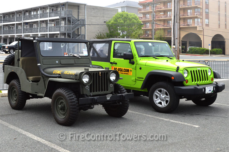 Old and New Jeep vehicles side by side.